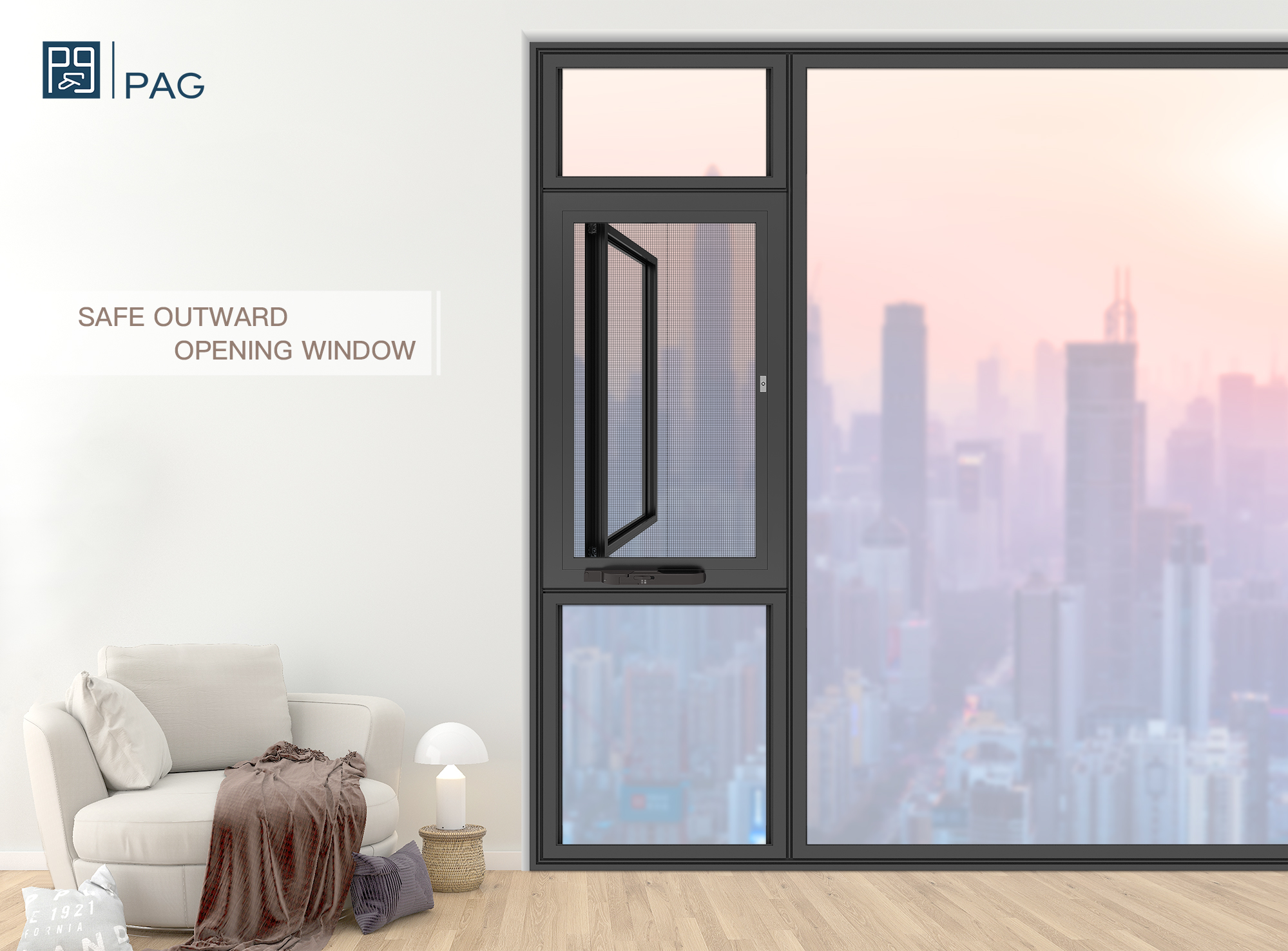 PAG | Safe Outward Opening Window